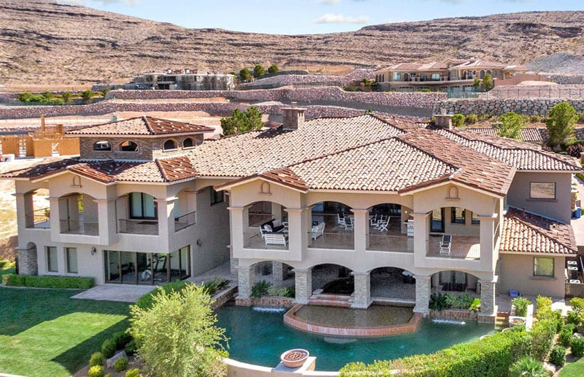 Large Las Vegas home for sale captured by a Flying High drone