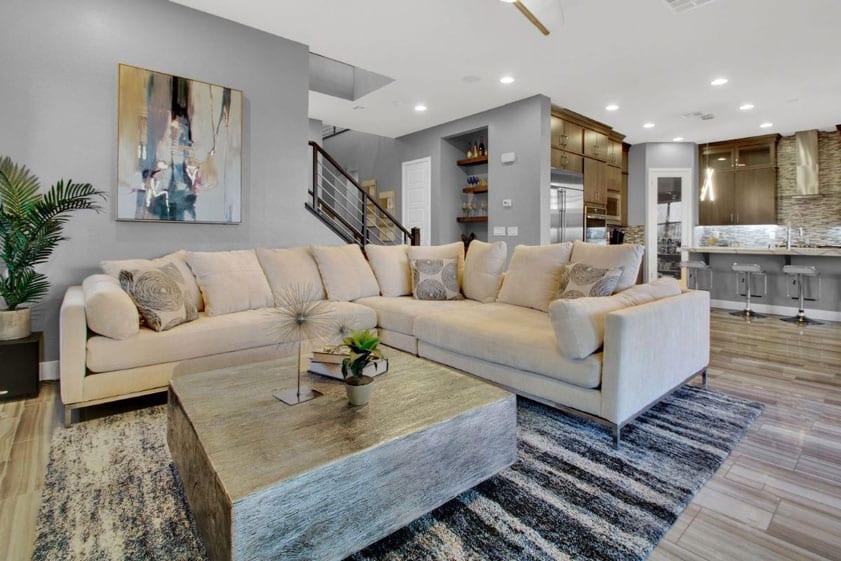 Modern comfortable Las Vegas home living room MLS photo