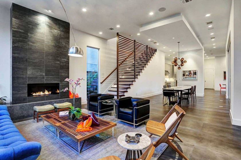 Clean modern living room of a home for sale in Las Vegas